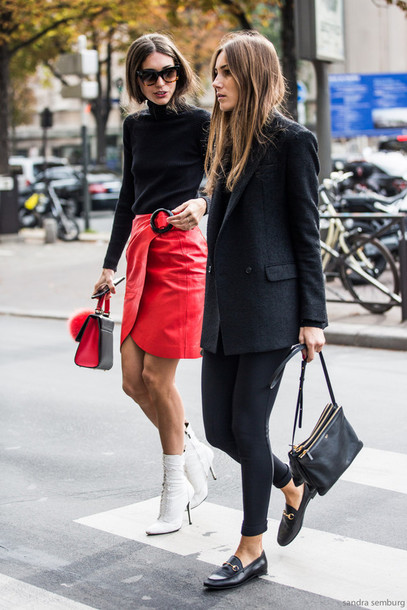 iy42g9-l-610x610-skirt-tumblr-girl+squad-mini+skirt-red+skirt-wrap+skirt--black+turtleneck-black-turtleneck-black+blazer-blazer-leggings-