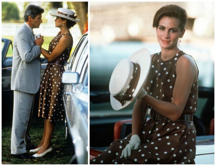 pretty-woman-brown-polka-dot-dress-polo-match.jpg